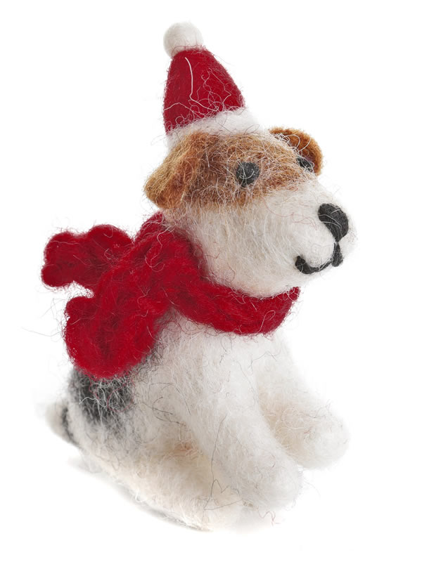 Amica Felt Sitting Terrier decoration Christmas tree decoration