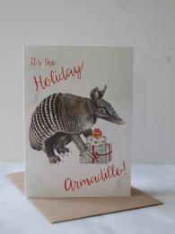 Mister Peebles Armadillo Card at Sally Bourne Interiors Muswell Hill London Greetings Card