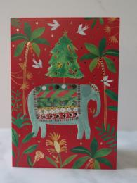 Roger La Borde Elephant 5 Pack Christmas Cards at Sally Bourne Interiors London