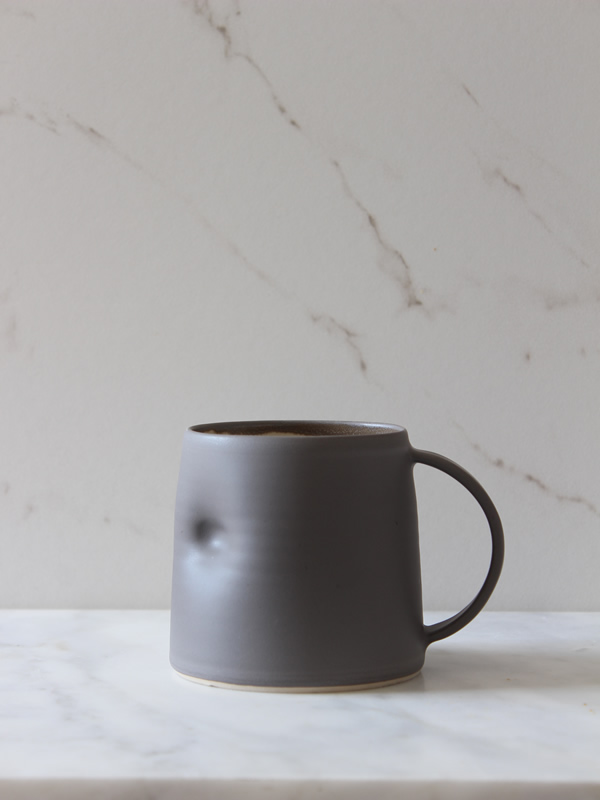 Emma Lacey Everyday Slate Mug at Sally Bourne Interiors London Muswell Hill Handmade Ceramics