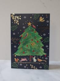 Roger La Borde Festive woodland 5 Pack Christmas Cards at Sally Bourne Interiors London
