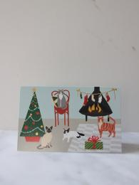 Roger La Borde Fireside Cats 8 Pack Christmas Cards at Sally Bourne Interiors London