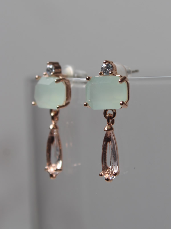 Green Classic Drop Earrings Jewellery by Parkside for Sally Bourne Interiors London