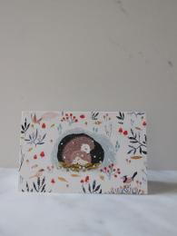 Roger La Borde Hedgehog 8 Pack Christmas Cards at Sally Bourne Interiors London