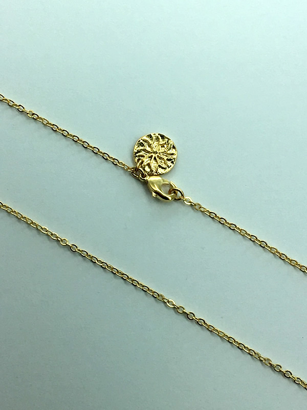 Gold plated brass chain, perfect for adding charms, two lengths, 45cm and 60cm
