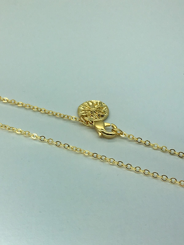 Gold plated brass chain, for charms, 45cm and 60cm