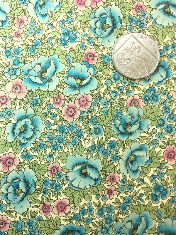 Wrapping paper from Florence in Italy with an intricate, aqua-coloured, floral pattern. perfect for wrapping gifts or crafts.