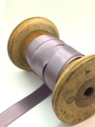 A purple satin ribbon. 15mm in width