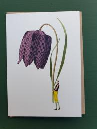 Laura Stoddart Fritillary Card Sally Bourne Interiors London N10 Muswell Hill Greetings card