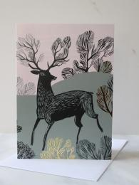 Lush Design Stag Card at Sally Bourne Interiors London Muswell Hill Greetings