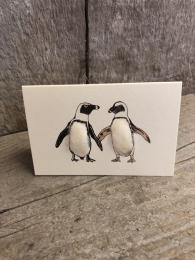 Mini African Penguins Card Penny Lindop Sally Bourne Interiors London Muswell Hill Greeting cards Handmade