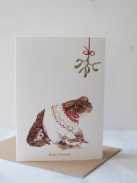 Mister Peebles Mistle Toad Card at Sally Bourne Interiors Muswell Hill London Greetings Card