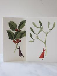 Laura Stoddart Holly and Mistletoe Christmas Cards Sally Bourne Interiors London Muswell Hill Greetings Cards
