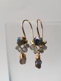 Dancer Earrings Labradorite Ottomania Jewellery Sally Bourne Interiors London