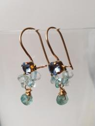 Crystal and Apatite Mini Earrings Ottomania Jewellery Sally Bourne Interiors