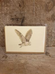 Penny Lindop Mini Barn Owl Card at Sally Bourne Interiors London Muswell Hill