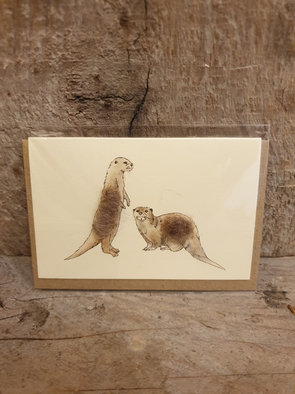 Penny Lindop Otters Mini Cards at Sally Bourne Interiors Muswell Hill