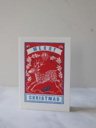 Archivist Merry Christmas Deer Cards at Sally Bourne interiors london