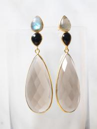 Smoky Mia Earrings Shyla London Sally Bourne Interiors Jewellery Jewelry
