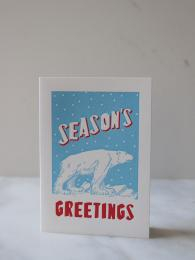 Archivist Christmas Cards at Sally Bourne Interiors London Polar Bear Cards Pack of 5