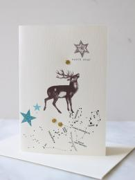 Elena Deshmukh Greeting Cards at Sally Bourne Interiors Muswell Hill Reindeer Card Christmas Cards