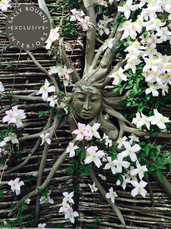 Bali Hand Carved Root Fairy outdoor wood carving sunshine carved face