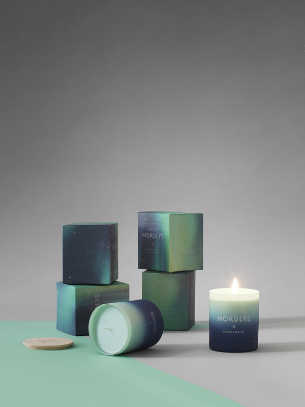 Skandinavisk Boxed Candle SNO NORDLY JUL SKOG Sally Bourne Interiors