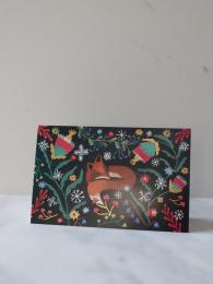 Roger La Borde Sleepy Fox 8 Pack Christmas Cards at Sally Bourne Interiors London