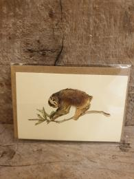 Sloth Mini Card Penny Lindop at Sally Bourne Interiors London Greeting Card