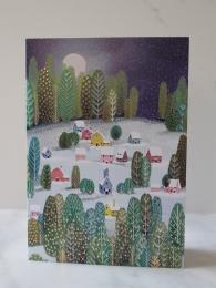Roger La Borde Snow Village 5 Pack Christmas Cards at Sally Bourne Interiors London