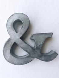 Zinc Letter & Alphabet Sally Bourne Interiors London UK