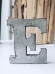 Zinc Letter E Sally Bourne Interiors Alphabet