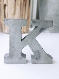 Zinc Letter K Alphabet Sally Bourne Interiors