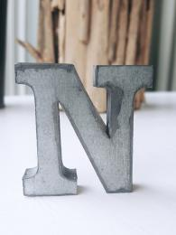 Zinc Letter N Alphabet Sally Bourne Interiors London