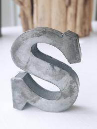 Zinc Letter S Alphabet Sally Bourne Interiors London UK