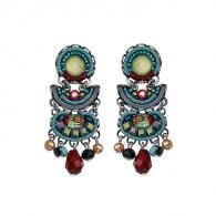 Ayala Bar Turquoise Crown Earrings C1102
