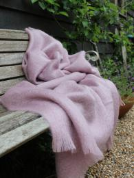 Mohair Throw Dust Pink