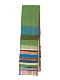 Wallace and Sewell Silk Lambswool Bondone Scarf Green