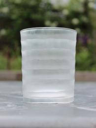RST Striped Ice Glass Votive