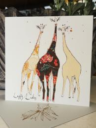 Anna Wright Leggy Ladies Card Birthday Card Greetings Card Sally Bourne Interiors