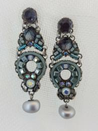 Ayala Bar Earrings 1186 Sally Bourne Interiors Jewellery Jewelry gemstone Swarovski Crystals