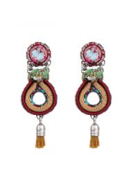 Ayala Bar Earrings E137 Jewellery Jewelry Sally Bourne Interiors London Swarovski Crystals