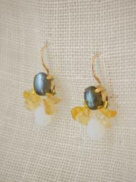 Bee Earrings Labdradorite Citrine Opalite Jewellery Jewelry Ottomania Sally Bourne Interiors London UK Gemstone Christmas Gift for her