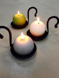 Black Iron Candle Holders Home Accessories
