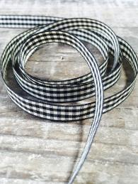 Black and White Gingham Ribbon gift wrap crafts