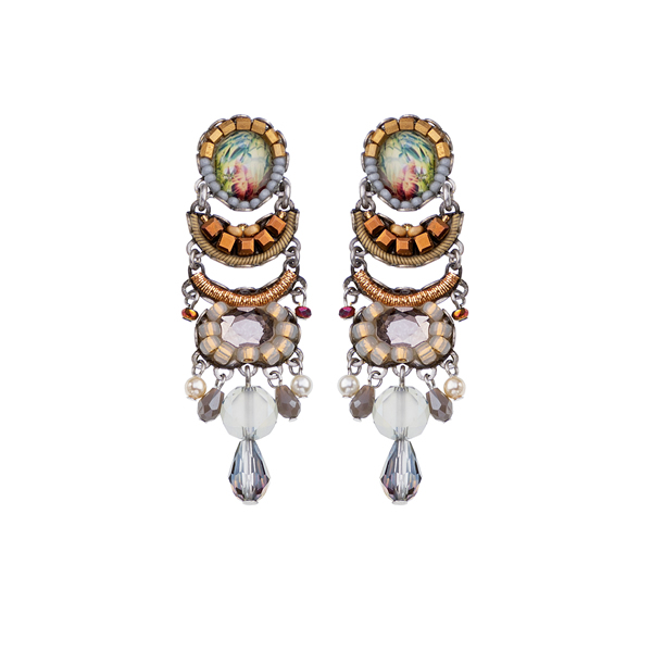 Ayala Bar East Wind Earrings C1044 Jewellery Jewelry Sally Bourne Interiors London Swarovski Crystals