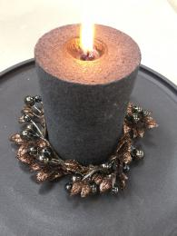 Candle Ring Bronze Leaf Christmas Table Decorations Sally Bourne Interiors London