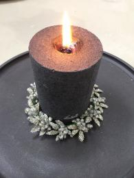 Candle Ring Silver Glitter Berry Christmas Table Decorations Sally Bourne Interiors London Muswell Hill