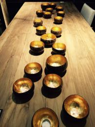 Coconut Shell Tealight Holders Candle Sally Bourne Interiors