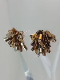 Deco Gold Leaf Cluster Earrings Jewellery Jewelry Parkside Sally Bourne Interiors London